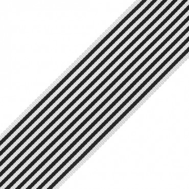 "1 1/2"" PENCIL STRIPED GROSGRAIN-NAVY/WHITE"