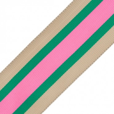 "1 1/2"" STRIPED GROSGRAIN-PINK/GREEN"