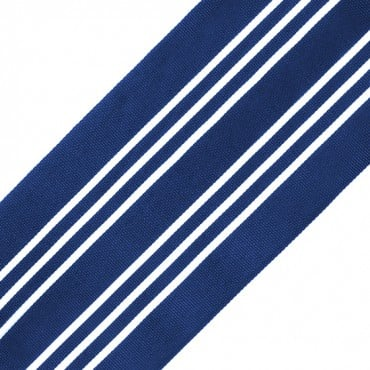 "3"" STRIPED GROSGRAIN-NAVY/WHITE"