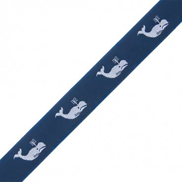 22MM WHALES WOVEN JACQUARD