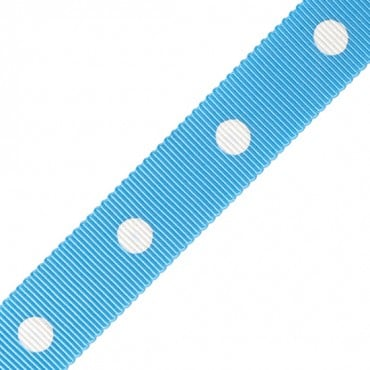 "5/8"" POLKA DOT CHROMSPUN GROSGRAIN"
