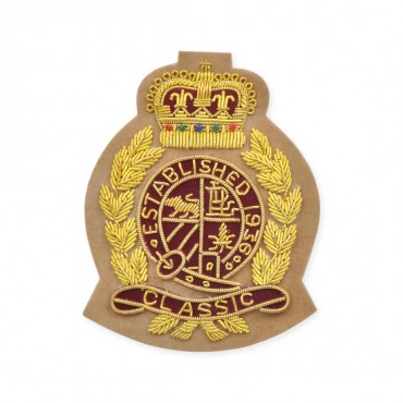 "2 3/4"" X 3 1/2"" BULLION CLASSIC CREST-All-BEIGE"