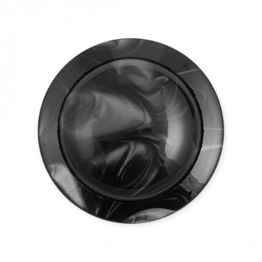 SWIRL DOME BUTTON W/RIM