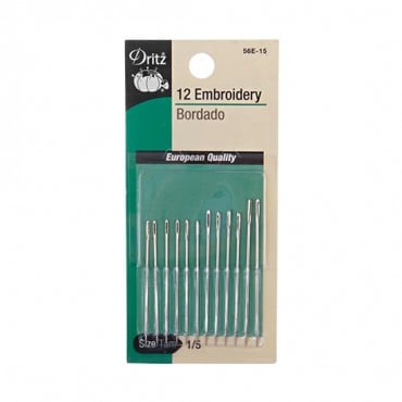 EMBROIDERY NEEDLE PKG SIZE 1/5-All-NICKEL