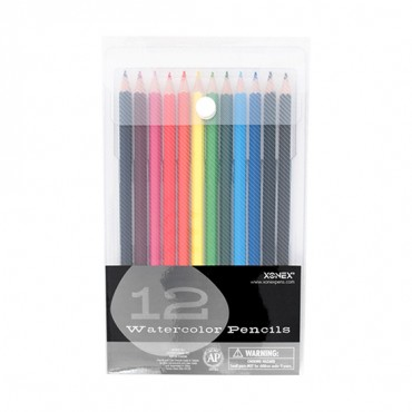 Xonex Snap Case Art Supplies, Watercolors Pencils