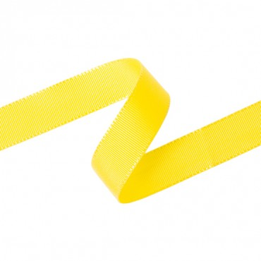 17MM SILKY GROSGRAIN RIBBON-17mm-YELLOW