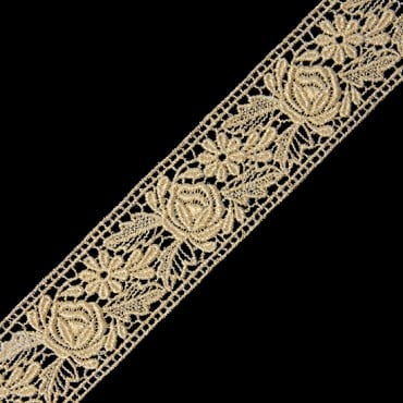 "1 1/2"" FINE METALLIC LACE-1 1/2""-GOLD"