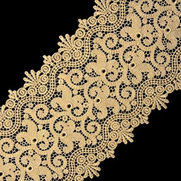 "5 3/4"" FINE METALLIC LACE"