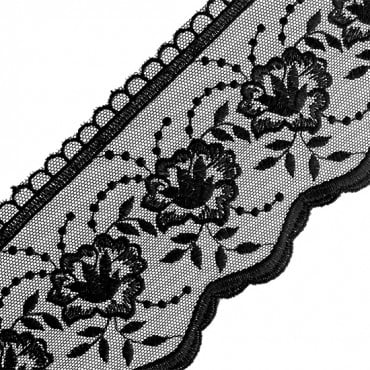 "4"" EMBROIDERED LACE"