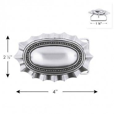 "2 1/2"" X 4"" Oval Metal Buckle"