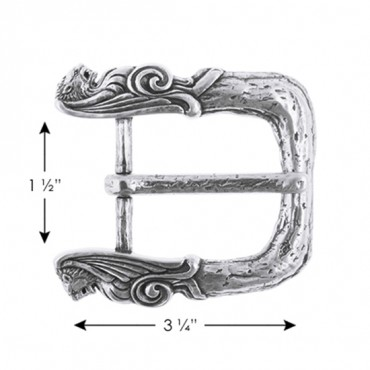 "3"" X 3 1/4"" METAL BUCKLE-All-SILVER"