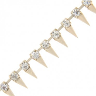"1/2"" (13mm) Rhinestone Spike Chain"