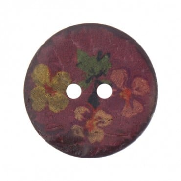 TWO-HOLE FLORAL BUTTON