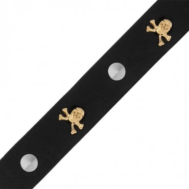 20MM SKULL AND SPIKE VINYL TRIM-20mm-SILVER/BLACK/GOLD