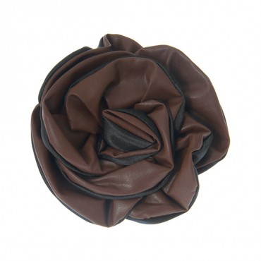 "4"" TWO-TONE VINYL FLOWER WITH PIN-BLACK/BROWN"