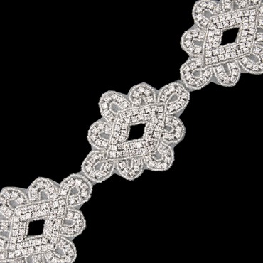 "3 1/4"" (83mm) Rhinestone Trim"