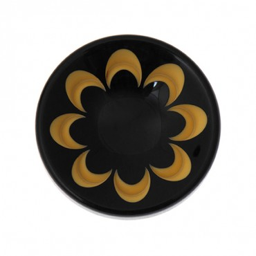 FLORAL BUTTON WITH TUNNEL SHANK
