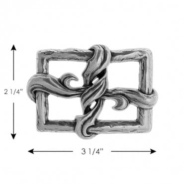 VINE KNOT METAL BUCKLE-ENGLISH SILVER