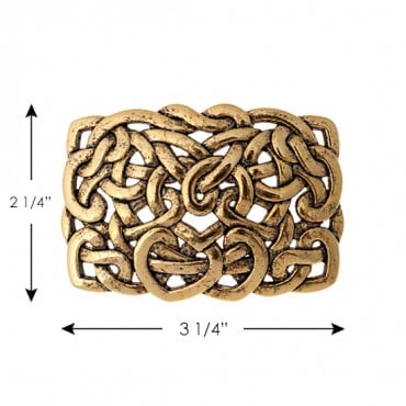 KNOTTED SWIRL METAL BUCKLE
