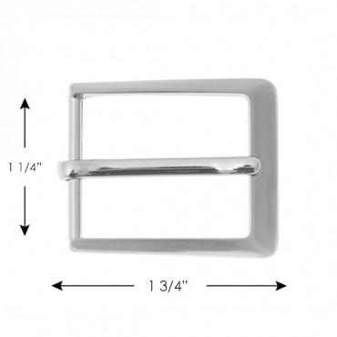 Brushed Nickel Rectangle Buckle