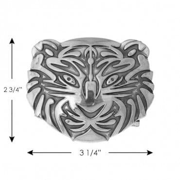 Engraved Tiger Metal Buckle