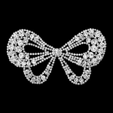 RHINESTONE BOW APPLIQUE