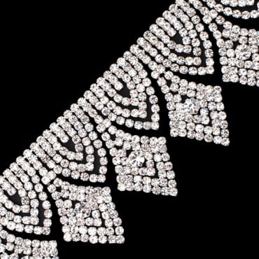 "2""(50mm) Diamond Shape Rhinestone Fringe"