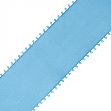 "2 1/4"" PICOT EDGE TAFFETA RIBBON-LIGHT BLUE"
