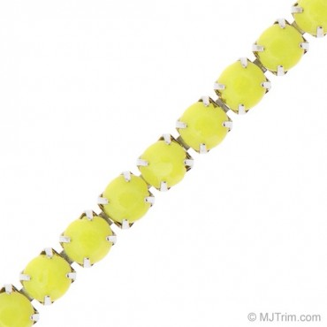 4MM SOLID COLORED RHINESTONE CHAIN
