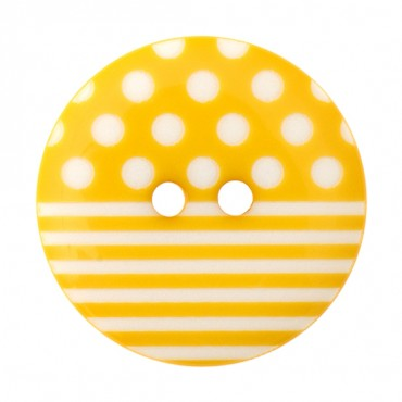TWO-HOLE POLKA DOTTED STRIPED BUTTON