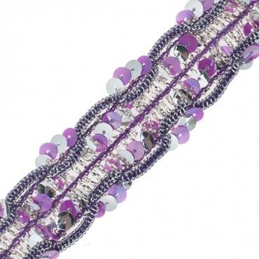 """1"""" (25mm) Sequined And Metallic Trim"""