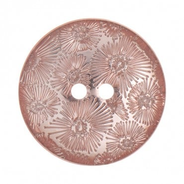 TWO-HOLE FOIL FLORAL BUTTON