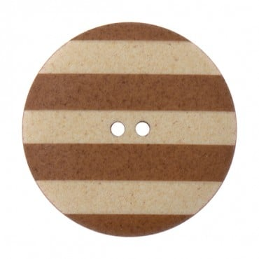 TWO-HOLE STRIPED BUTTON