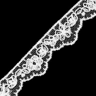 19MM EMBROIDERED FLORAL LACE