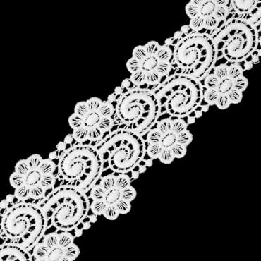 "1 1/2"" Floral and Swirl Venice Lace"