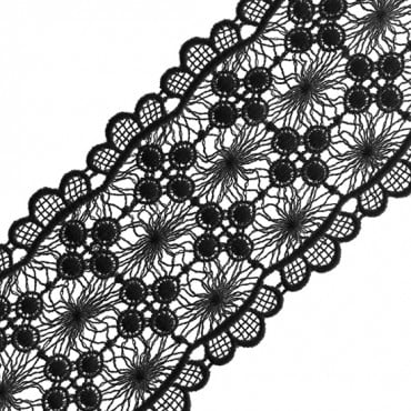 "2 3/4"" EMBROIDERED AND SCALLOP VENICE LACE"