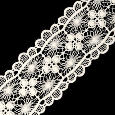 "2"" FLORAL AND SCALLOPED CROCHET LACE"