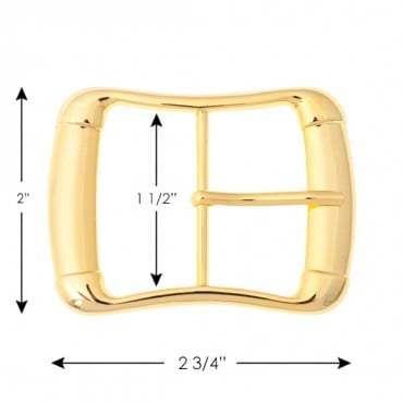 "2"" Classic Rectangular  Metal Buckle"