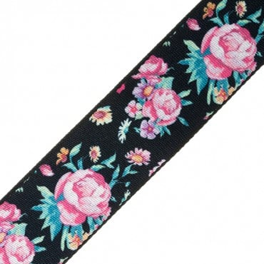 "1 1/2""  FLORAL PATTERNED WEBBING"