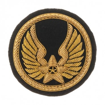 "2 3/4"" MILITARY WINGS CREST-BLACK/GOLD"