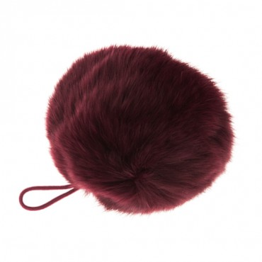 LARGE FUR POMPOMS
