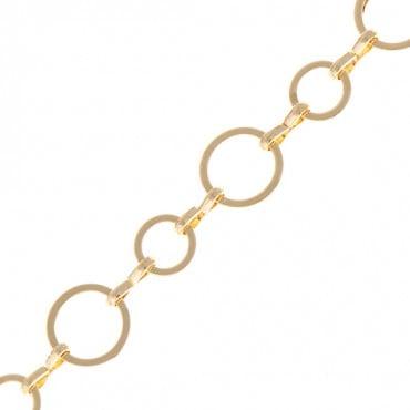 8MM BRASS CIRCLE CHAIN-GOLD