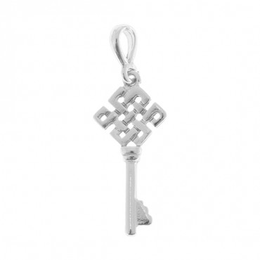 "1 3/4"" SILVER CELTIC KEY CHARM"