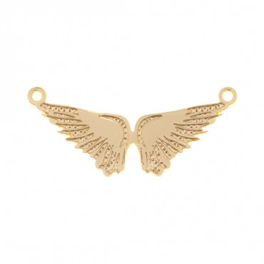 GOLD ANGEL WINGS CONNECTOR