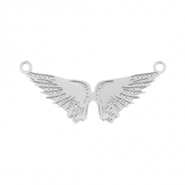 SILVER ANGEL WINGS CONNECTOR