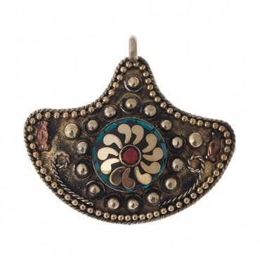 EMBELLISHED ABSTRACT PENDANT
