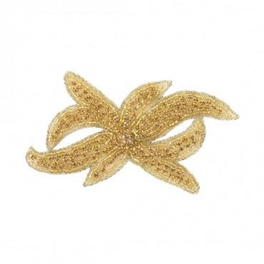 "4 1/2"" Abstract Flower Rhinestone Applique"