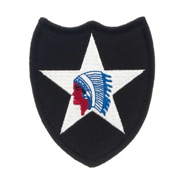 "2 1/2"" x 3 1/2"" 2ND INFANTRY DIVISION"