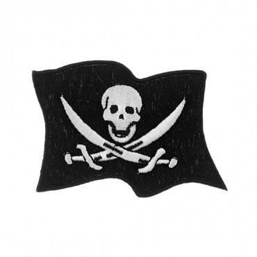 "2 3/4"" ( 70mm) Jolly Roger Flag Applique"