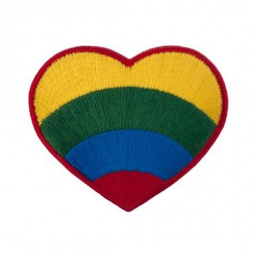 "2 1/4"" (58mm) Rainbow Heart Applique"
